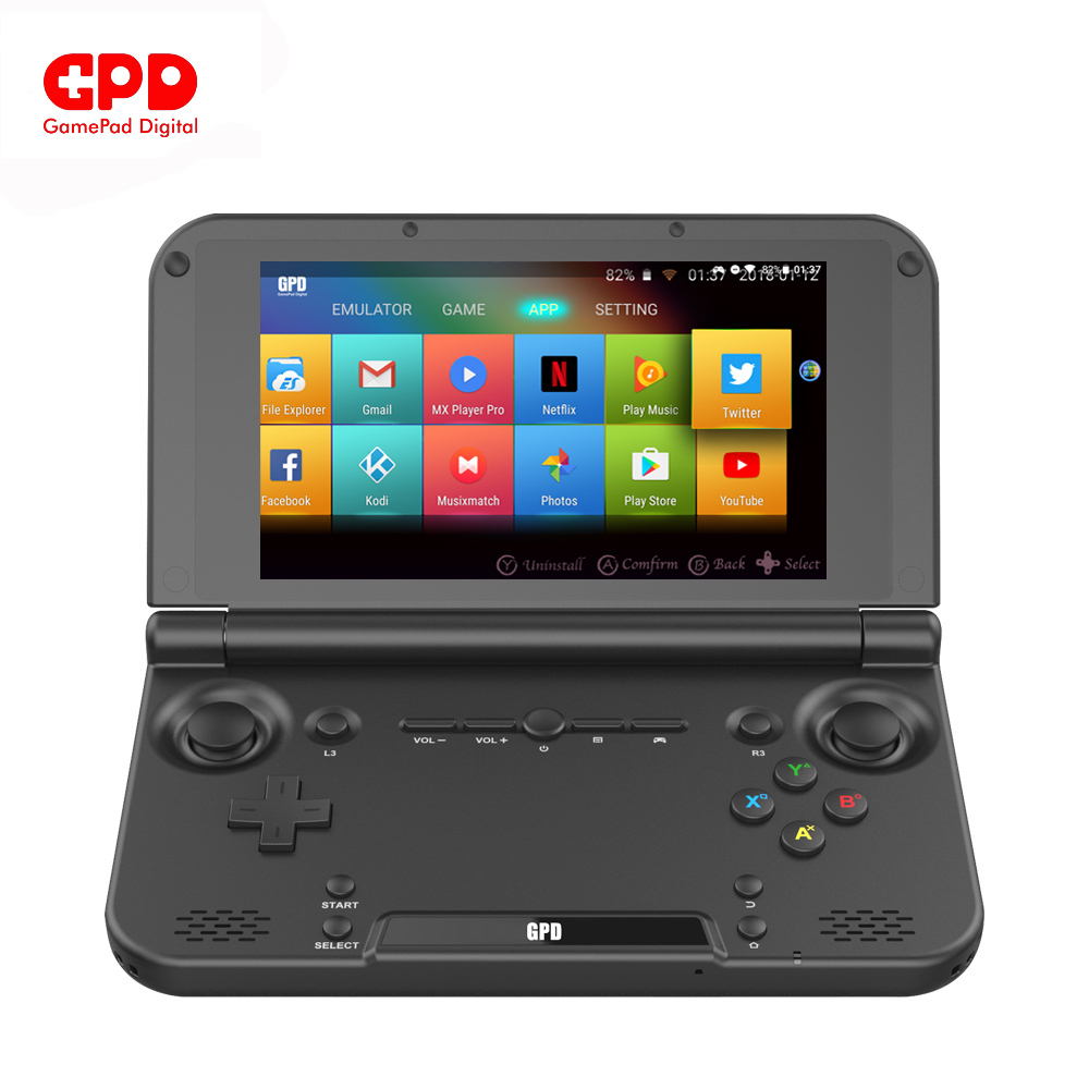 New Original GPD XD Plus 5Inch 4 GB/32 GB Android 7.0 CPU MT8176 Hexa-core Handheld Game Console Laptop ( Black ) Onsale