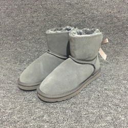 HOT Australia Women Snow Boots Cute 1-Bow Back Winter Warm Cow Suede Leather Outdoor Ankle Boots Brand Ivg Plus Size US3-14