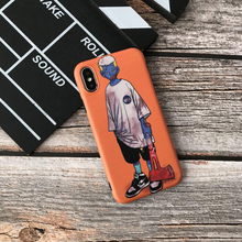 fashion Trend brand soft case for iphone X XS MAX XR 8 7 6 6S plus matte phone cover silicon coque Skateboard boy fundas capa цена и фото