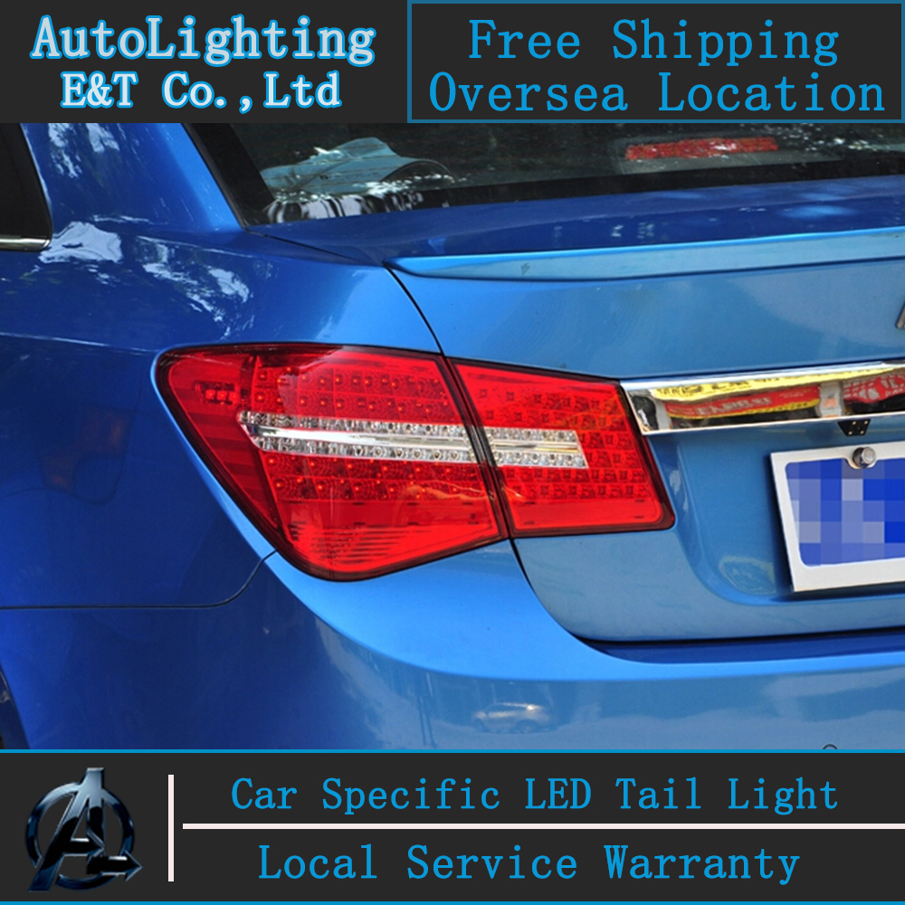 Auto Lighting Style LED Tail Lamp for Chevrolet Cruze led tail lights Benz Design rear trunk lamp cover drl+signal+brake+reverse