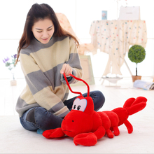 Candice guo plush toy stuffed doll new animal anime lobster crayfish langouste creat simulation baby birthday