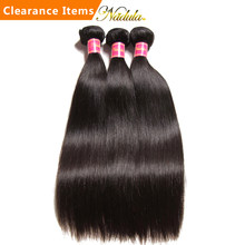 Nadula Hair Indian Straight Hair 3/4Bundles Indian Hair Straight 8-30inch 100% Remy Human Hair Weave Bundles Machine Double Weft(China)