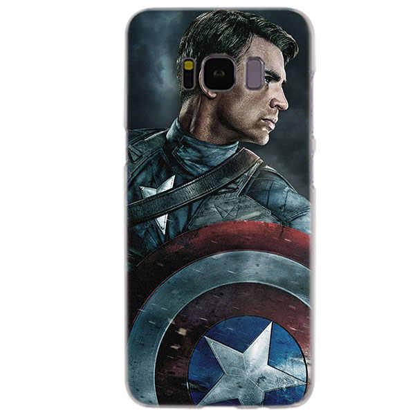 MEIBAI Капитан Америка Прозрачный Футляр для Samsung Galaxy S8 чехол S7 S6 край S9 S8 Plus s6 Edge plus Galaxy Note 9 крышка
