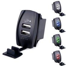 Универсальный двойной автомобильное зарядное устройство USB адаптер питания 5 В 3.1A 2 USB разъем авто зарядное устройство для IPhone IPad Samsung honda Toyota автомобиль-зарядное устройство
