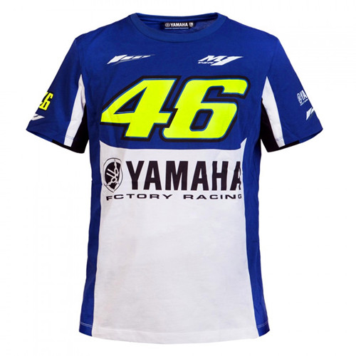 2017 Valentino Rossi VR46 M1 Factory Racing Team Moto GP Sports T-shirt Blue and white