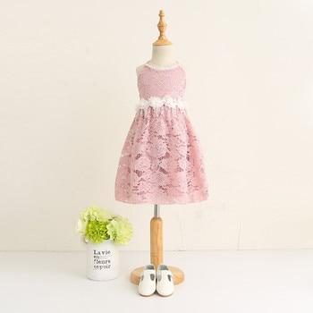 2018 Kids lace princess flower dress , princess dress, kids dresses for girls , 5pcs/lot   JYF06