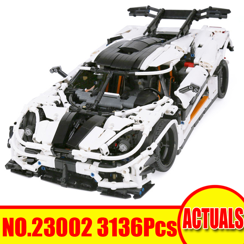 3136Pcs 23002 Lepin Technic Figures Race Car Model Kits Building Blocks Bricks Sets Toys For Children Gift Compatible With 42056 10646 160pcs city figures fishing boat model building kits blocks diy bricks toys for children gift compatible 60147