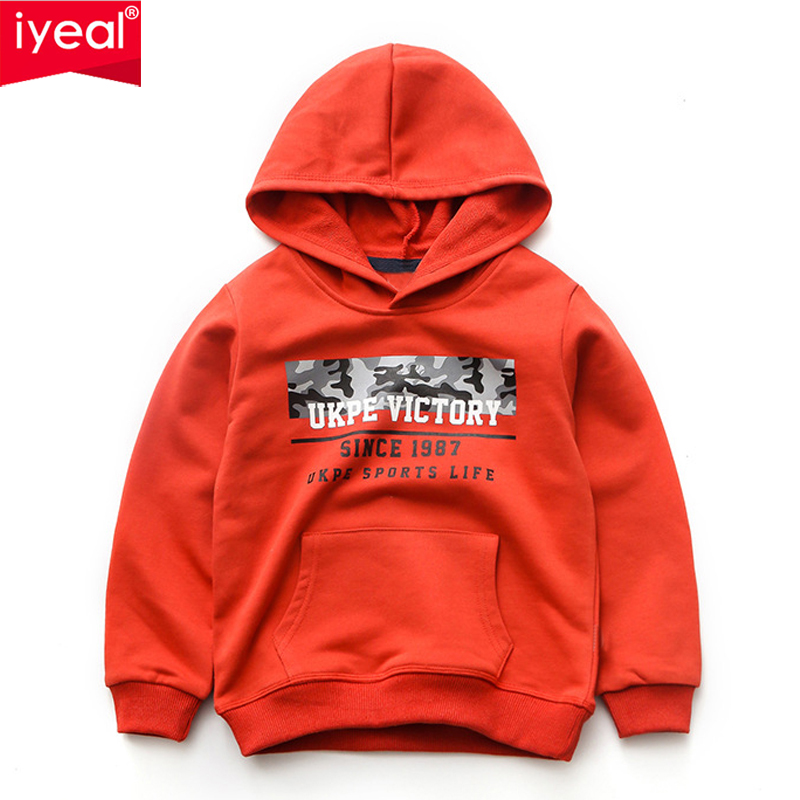 IYEAL Spring Autumn Kids Boys Active Hooded Children Outerwear Jackets Big Boys Sport Suit Hoodies Sweatshirts for 4 10 Years