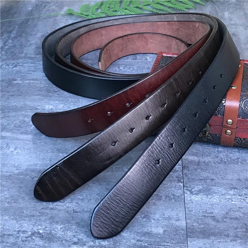 Super grueso cinturón de cuero de alta calidad de los hombres sin cinturón hebilla hombres cinturón hombre Jeans Correa Ceinture Homme de Riem, 105-125 cm SP01