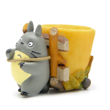 Studio Ghibli My Neighbor Totoro Action Figure Toys Cute 5cm Totoro Back Basket Resin Action Figures Model Toy for Home Decor