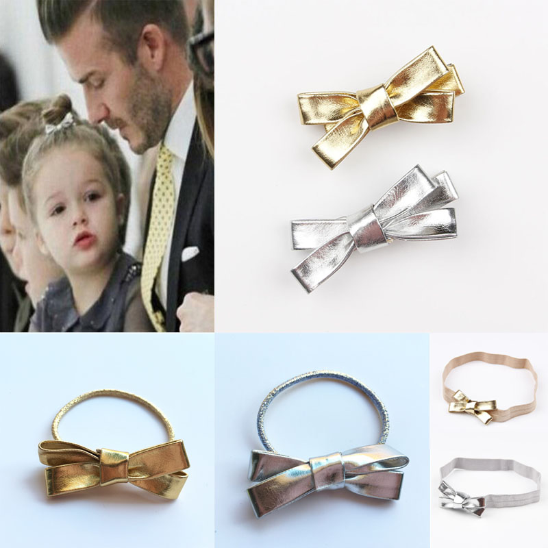 Hair accessories bow hair clip Headband Hairband Leather hair clips Hairpin Metal color para cabelo girls prendedor never marble binder clips gold metal clips document paper clips with clip holder fashion office accessories school supplies