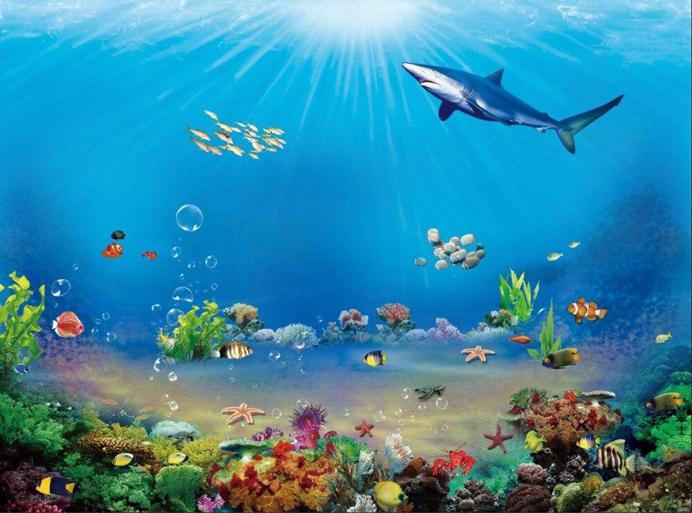 7x5ft under sea aquarium finding dory nemo shark corals rocks custom photography studio - Fotos fondo del mar ...