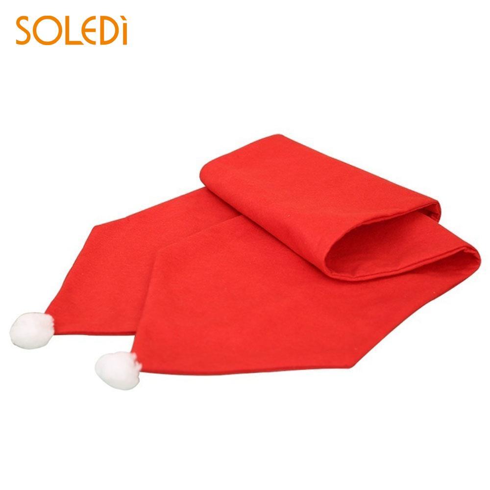 Christmas Table Flag Christmas Table Runner Restaurant Livingroom Red Non-Woven Fabric Beautiful Christmas Tablecloth