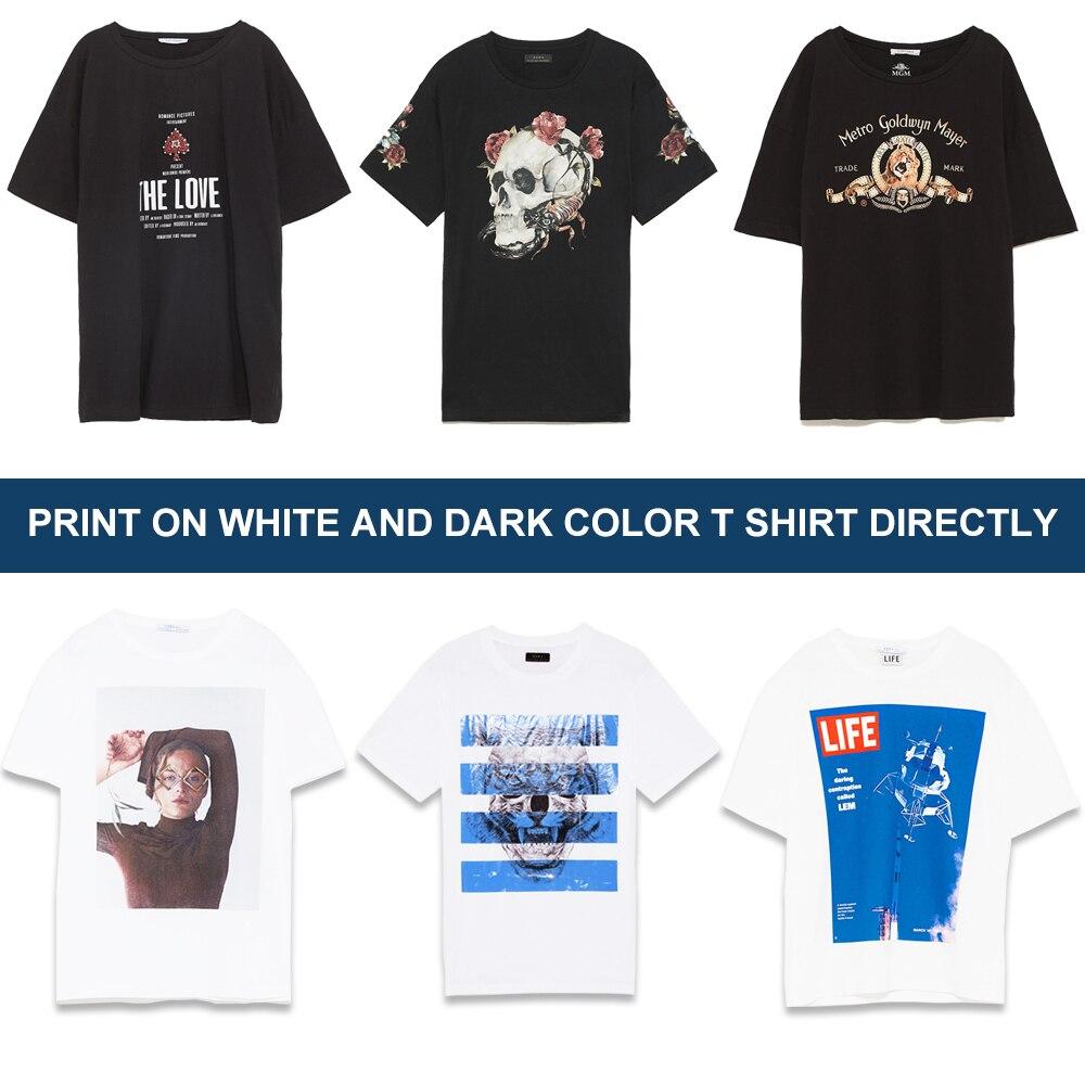80a7b4117 Multicolor A3 Flatbed Printer DTG Digital Garment Printer Print Dark Light  Color Flatbed Printer for T. sku: 32859271165