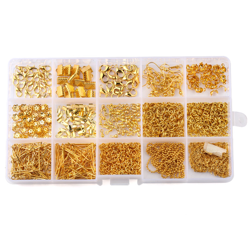 New 2880pc Jewelry Making Findings Supplies Kit Jump Ring Lobster Clasp Bead Pin