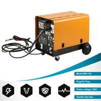 MIG 175 Single Phase Portable Fan Cooling Wire Stable Gas Shielded Welding Machine For Weldering EU Plug Hot Sale