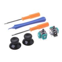 عصا تحكم تناظرية ثلاثية الأبعاد Thumbsticks قبضة غطاء استبدال أجزاء فتح أدوات إصلاح T8 T6 مفك ل XBOX ONE غمبد تحكم