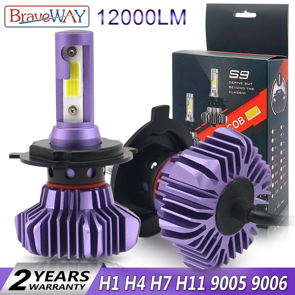 BraveWay Led Scheinwerfer für Auto Led Eis Birne Auto Led Licht H4 H7 H11 9005 9006 HB3 BH4 H1 Automobil diode Lampen H7 Led-lampe H4