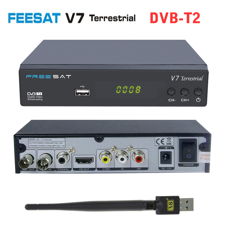 genuine freesat v7 hd dvb t2 digital tv receiver dvb t t2 v7 terrestrial satellite receiver. Black Bedroom Furniture Sets. Home Design Ideas