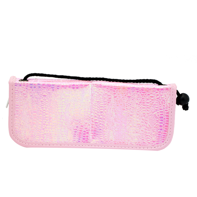 HOT 1Pcs <font><b>Mermaid</b></font> Fish Scale Nail <font><b>Brush</b></font> Holder Storage Case <font><b>Bag</b></font> Cosmetic Pen Organizer <font><b>Makeup</b></font> Manicure Nail Art Tool Accessory image