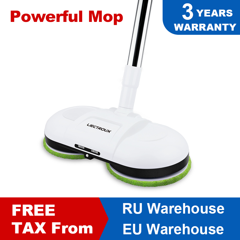 (FBA)LIECTROUX F528A Wireless Electric Mop with Waxing ,Wet Dry Cleaning ,Water Spay,Mopping Robot Non Vacuum Cleaner, LED Light|Vacuum Cleaners|   - AliExpress