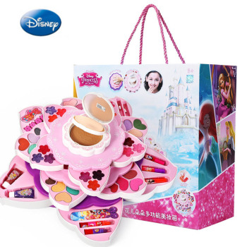 disney pretend play beauty fashion toys frozen child cosmetic set girl toy makeup box house eye shadow blush for kids gift Disney pretend play Beauty  Fashion toys  Children's Cosmetics Makeup Box Princess Girl Birthday Gift Toy Set Prom Performance