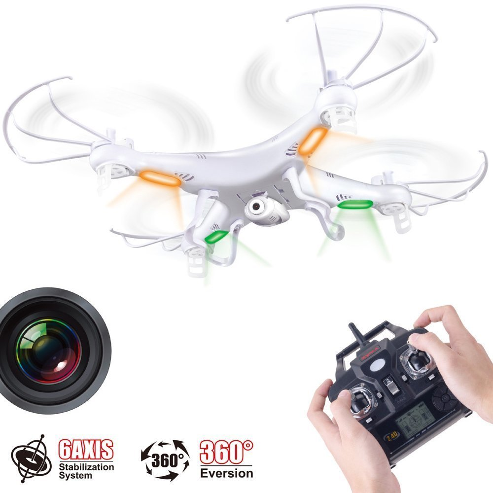 Versiunea actualizata Syma X5C X5C-1 2.4G 6 Axe GYRO HD Camera RC Quadcopter RTF RC elicopter cu camera de 2.0MP