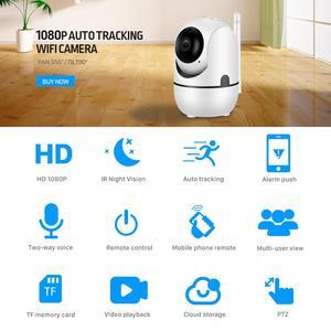 Image 3 - Bulut 1080P PTZ IP kamera otomatik izleme 2MP ev güvenlik güvenlik kamerası ağ WiFi IP kamera kablosuz kamerası YCC365 bebek izleme monitörü