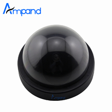 Dome Dummy Fake Surveillance Monitor CCTV Security Simulation Camera Flash