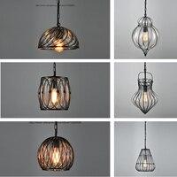Сентябрь светильник подвесной промышленного назначения Стекло лампы Черный светильники Кухня столовая Бар Лофт подвесной светильник Винт