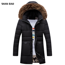 2017 New Arrival Parka Men Brand Clothing Winter Men Cotton Jacket Thick Warm Medium Long Hat Detachable Mens Jackets And Coats