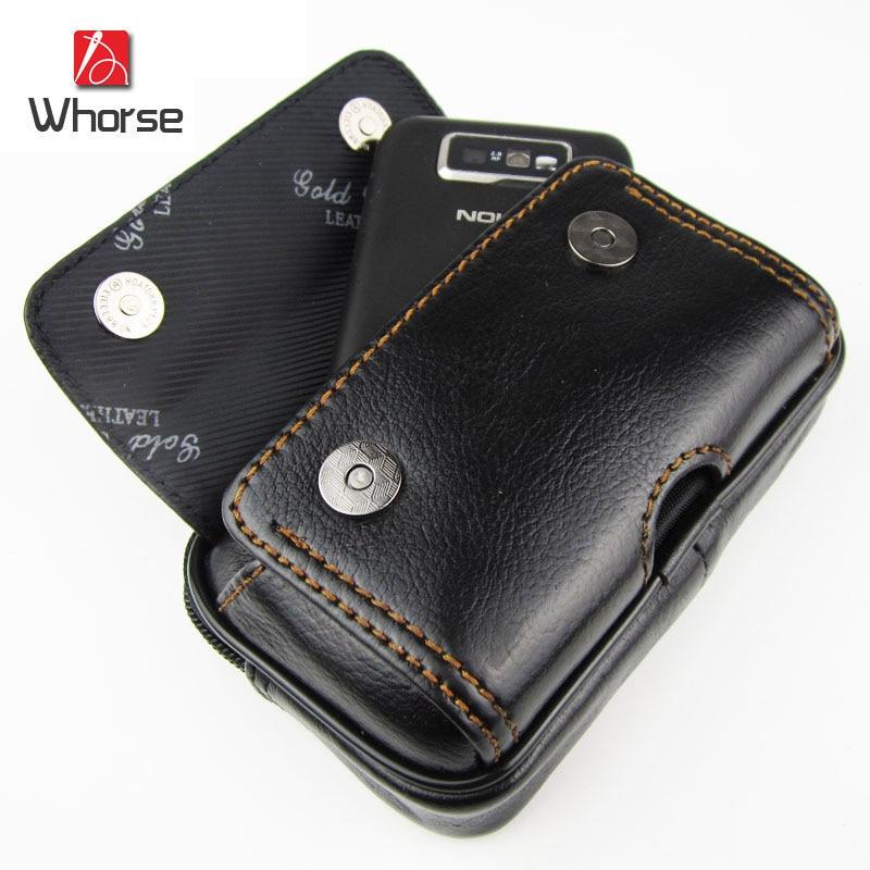 Brand Logo Mini Genuine Leather Men Small Waist Pack