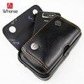 Logotipo de la marca! Mini Caja Del Teléfono Móvil de Cuero Genuino de Los Hombres Paquete de La Cintura Pequeña Bolsa de Bolsas de Viaje Pequeña Correa de Los Hombres Negro Marrón 152250
