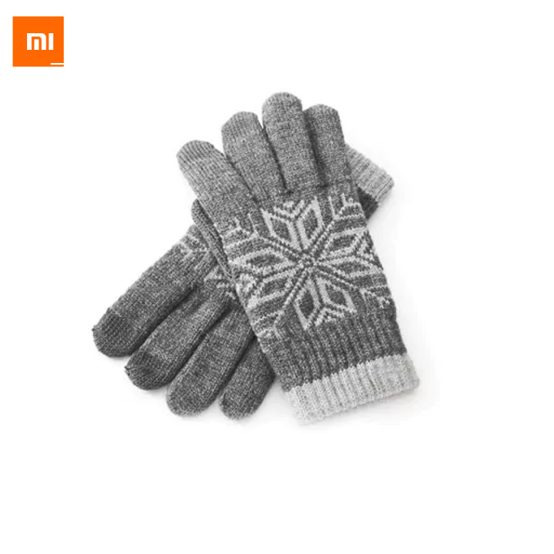 2017 New In Stock! 100% Original Xiaomi Screen Touch Gloves, Xiaomi Winter Gloves Warm Wool for Phone's Screen Touching Gloves couple s capacitive screen touching hand warmer gloves deep pink black free size 2 pairs