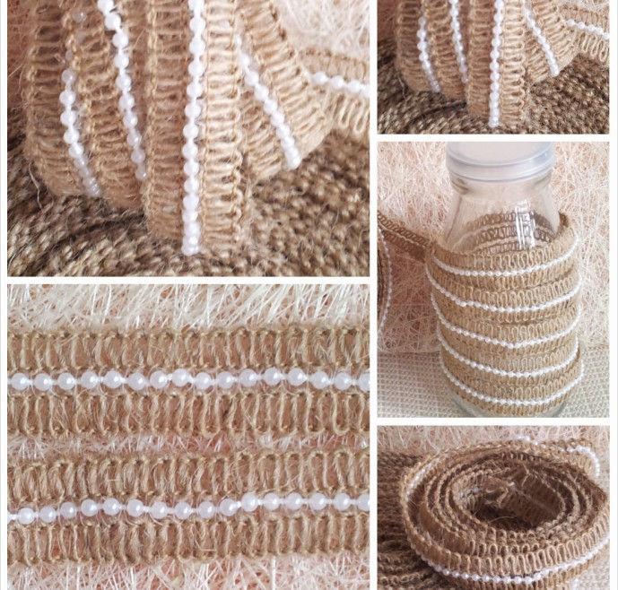 Jute Rope Bead Garland For Valentine 39 S Days Home Crafts Burlap Bead Cord For Wedding Decoration