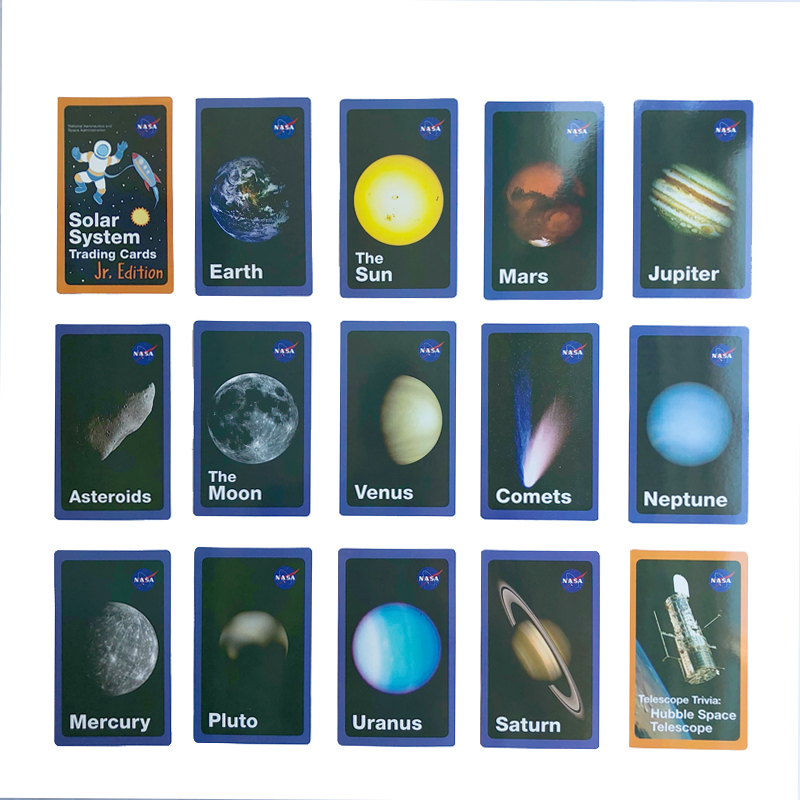 Space Solar System Star English Learning Word Card Montessori Early Educational Toys Children Game Pocket Card Kids Flash Cards image