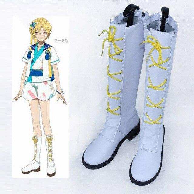 Conjunto de Estrellas de Conejo Cosplay Costume Boots Lace Up Zapatos Por Encargo Nuevo
