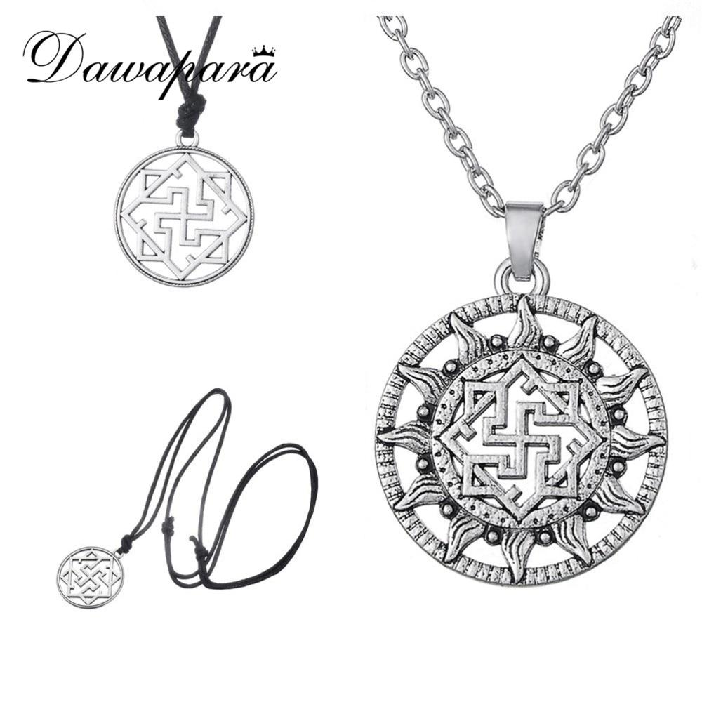 Dawapara Valkyrie Symbole pendentif slave Viking nordique amulette Viking nordique bijoux mode scandinave collier ethnique femme