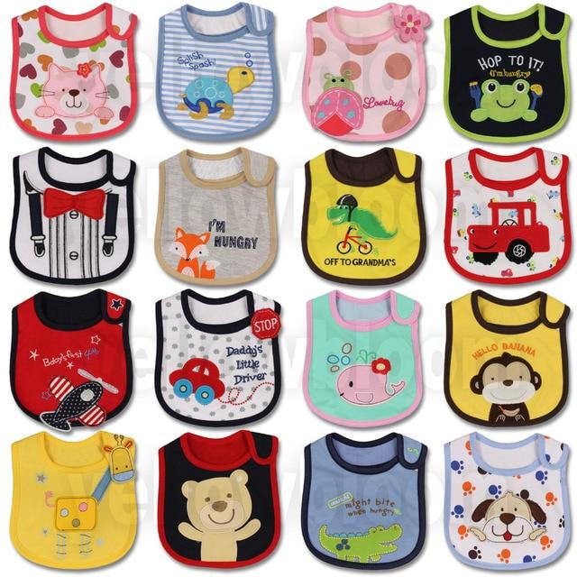 Bé Cô Gái Cậu Bé Ăn Yếm Tạp Dề Không Thấm Nước Phim Hoạt Hình Khăn Trẻ Em Toddler Bữa Ăn Tối baberos Đầu Quấn Khăn Burp Vải