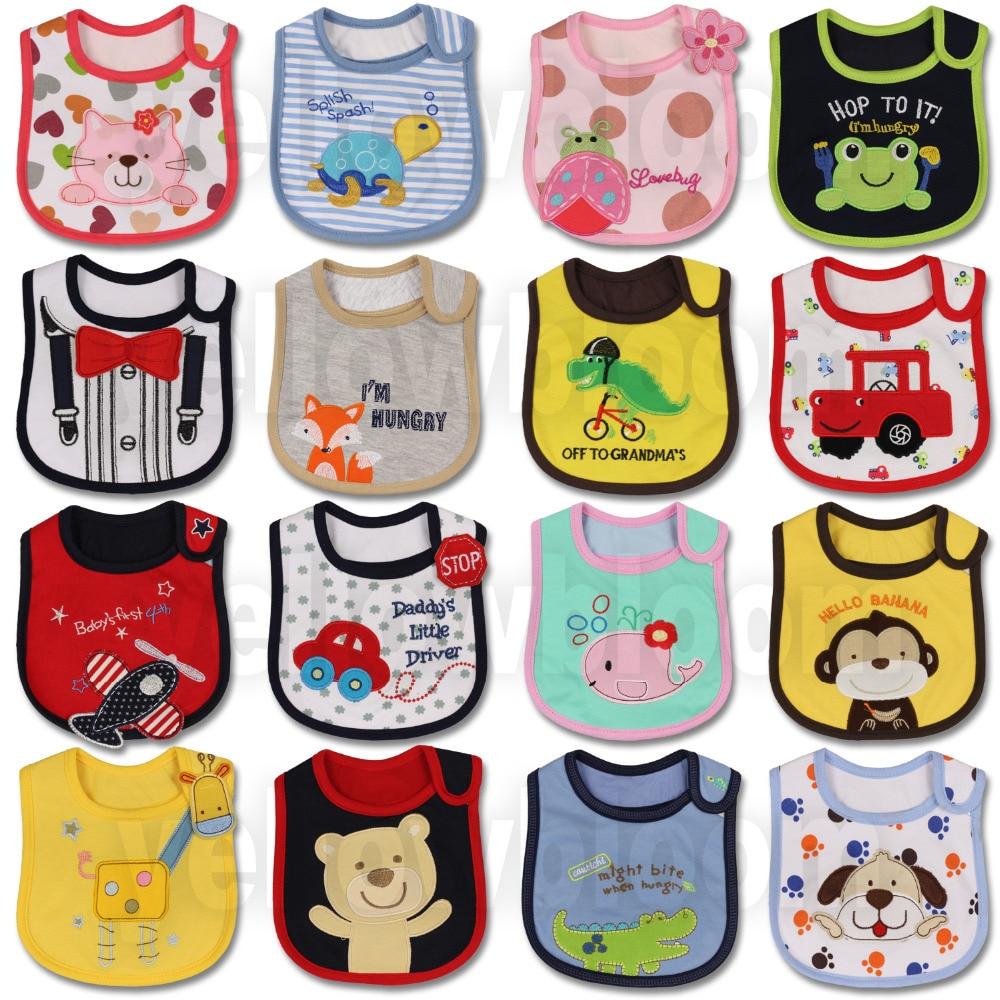 [Littles & Bloomz] Детские нагрудники для кормления для мальчиков и девочек, водонепроницаемый фартук, полотенце с рисунком, Детские банданы для ма...