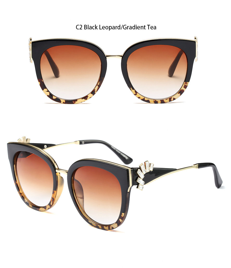 HTB1NNJSf50TMKJjSZFNq6y 1FXaX - Oversized Crystal Acetate Black Cat Eye Sunglasses 2018