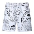 2017 Bob Marley New Mens Shorts Surf Board Shorts Summer Sport Beach Homme Bermuda Short Pants Quick Dry Silver Boardshorts