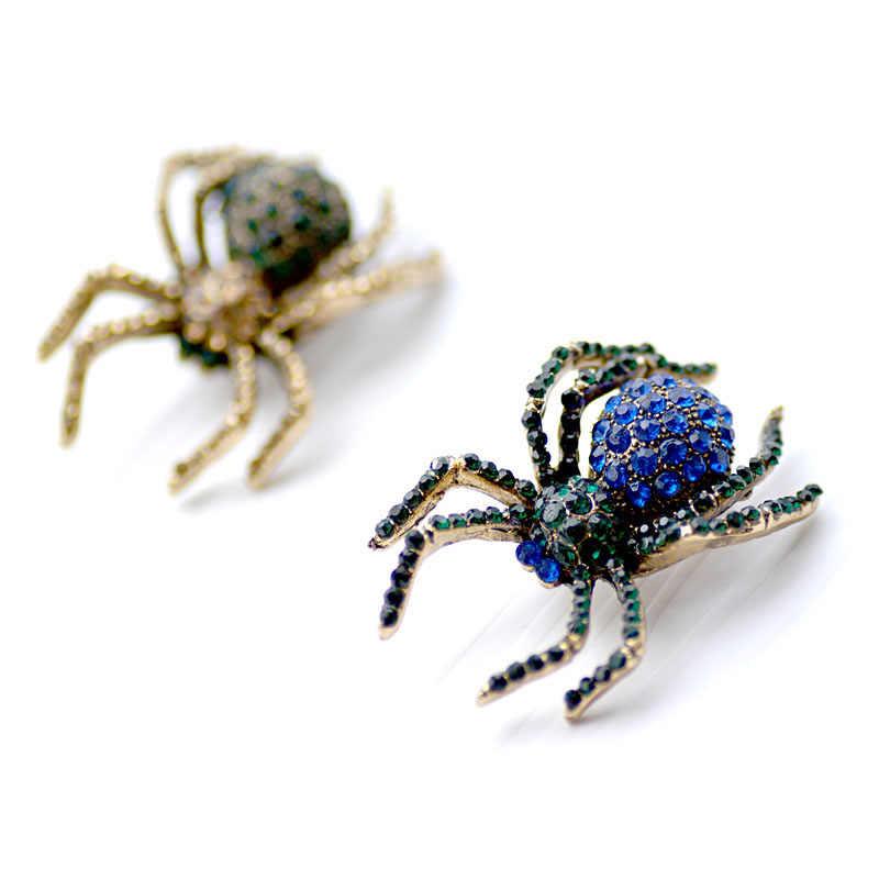 Morkopela Spider Bros Berlian Imitasi Fashion Pria Wanita Jas Bros Pin Perhiasan Hadiah Terbaik Kostum Pakaian Pins Aksesoris