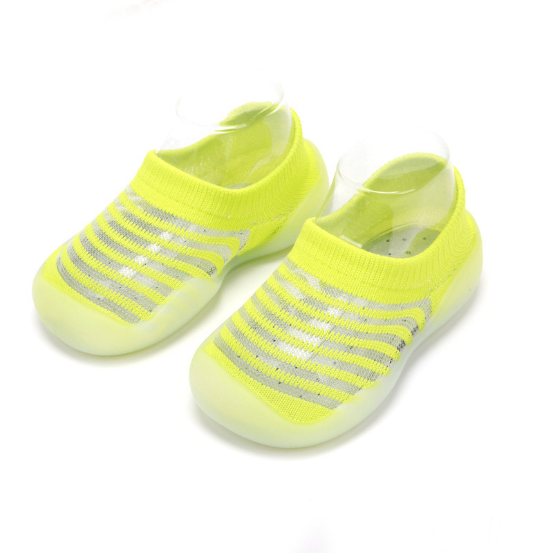 Striped Infant Baby Socks With Rubber Soles Floor Summer Baby Socks Boy Girls Anti Slip Leather Baby Floor Socks Shoes Clothes