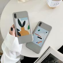 IMIDO New Picture TPU Soft Silicone Case For iphone 6/7/8/X /Xs/ Xsmax/Xr Cute Simple Cartoon Anti-fall Fashion Phone Cases