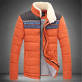 Men warm winter thick plus size outwear coat jacket male patchwork cotton padded clothes roupas masculinas