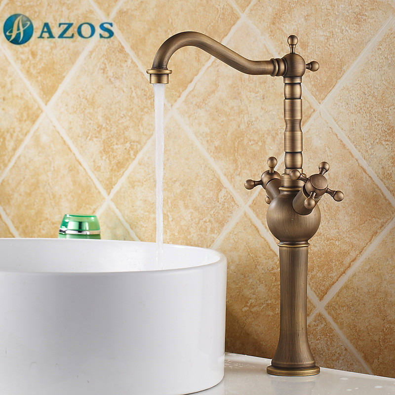 AZOS Bathroom Basin Tap Brass Toilet Sink Faucet Furniture MPDKZ025A-2AZOS Bathroom Basin Tap Brass Toilet Sink Faucet Furniture MPDKZ025A-2