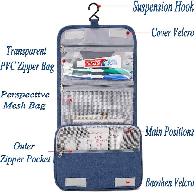 Civil Aviation Shower Bag Cosmetic Bag make-up Cases Beauty bath Tour Hanging Organizer portable Washing  toiletry Storage bags 3