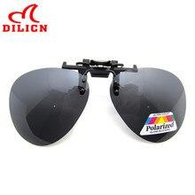 Dilicn marcos de clip en gafas de sol polarizadas de los hombres gafas de aviador gafas de sol de las mujeres polaroid lente conductor uv400 gafas de sol hombre
