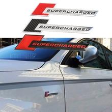 Aluminum Motorsport SUPERCHARGED Car-styling Decal Emblem Badge Car Sticker for Audi A3 A4 A5 A6 Q3 Q5 Q7 S4 RS Auto Accessories